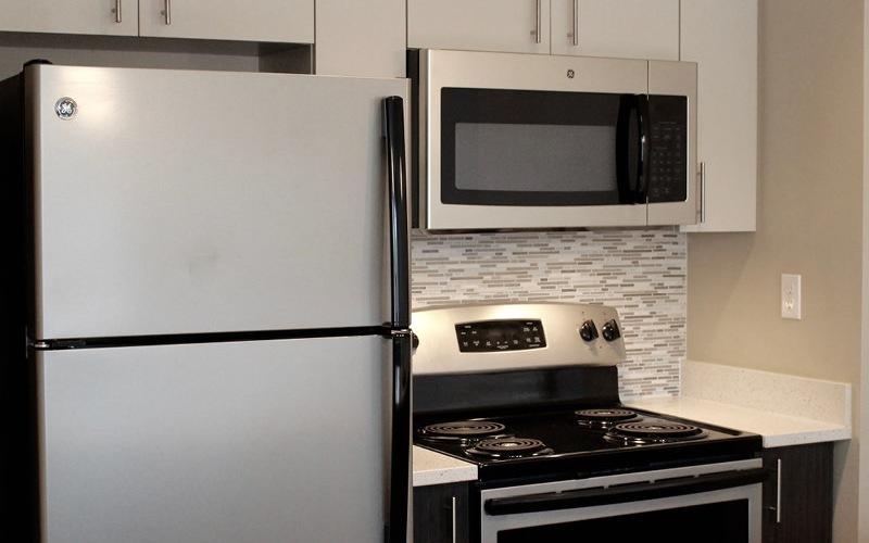 shallow, galley kitchen